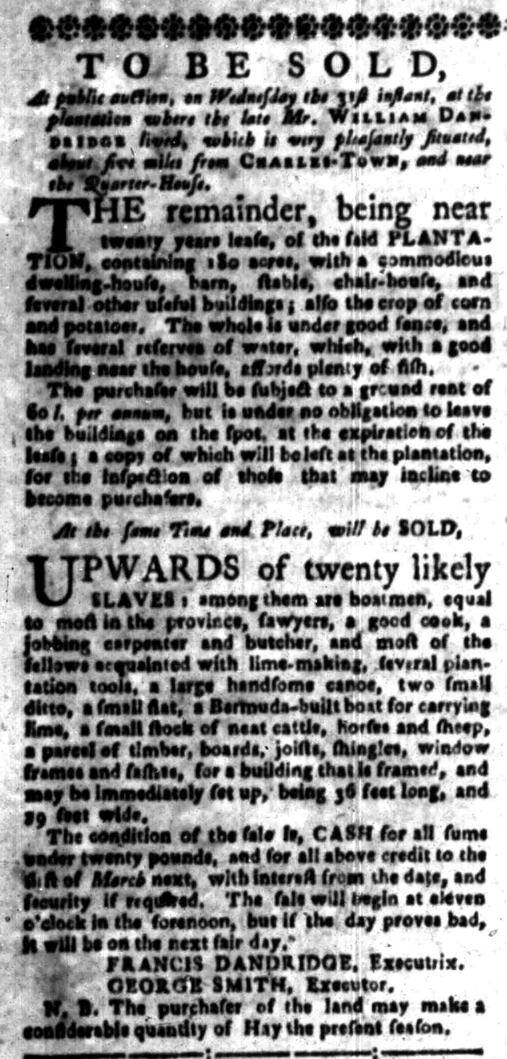 Aug 29 - South-Carolina Gazette Slavery 7
