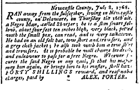 Aug 31 - Pennsylvania Chronicle Slavery 1