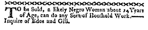 Oct 3 - Boston-Gazette Slavery 1