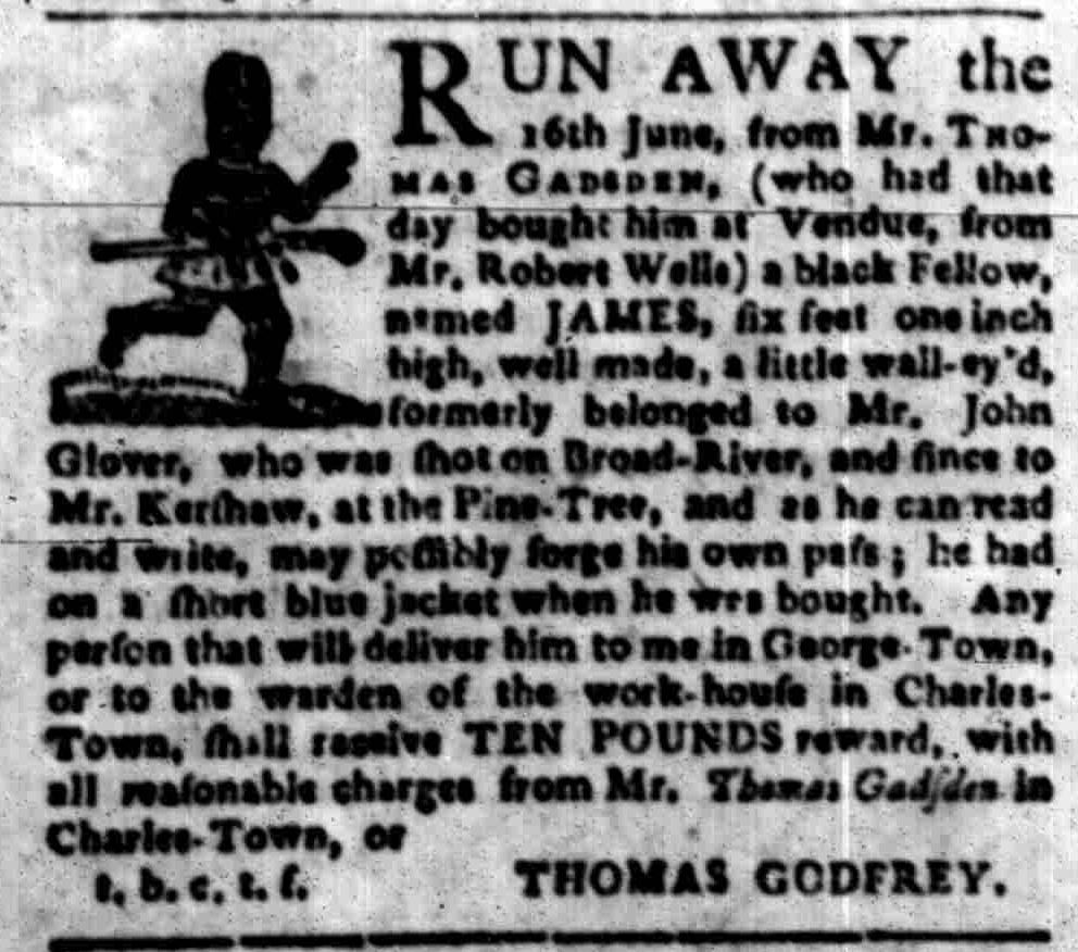 Oct 3 - South-Carolina Gazette Slavery 4