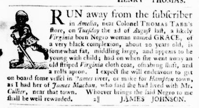 Sep 1 - Virginia Gazette Purdie and Dixon Slavery 3
