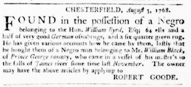 Sep 1 - Virginia Gazette Purdie and Dixon Slavery 6