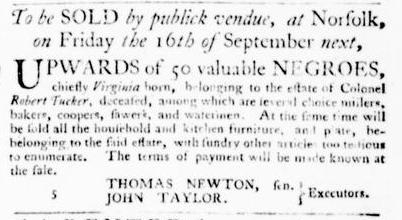 Sep 1 - Virginia Gazette Purdie and Dixon Slavery 7