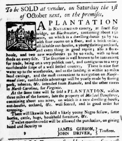 Sep 1 - Virginia Gazette Purdie and Dixon Slavery 9