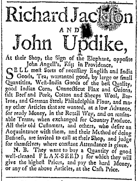 Sep 10 - 9:10:1768 Providence Gazette