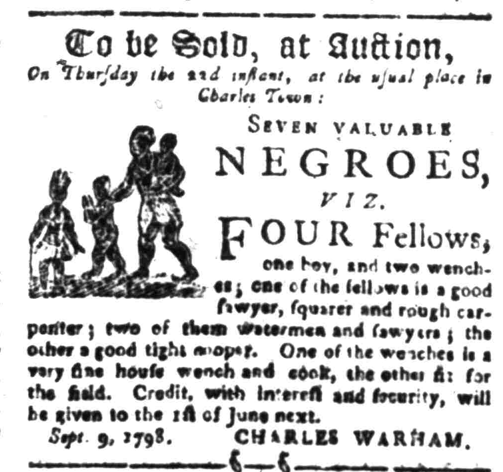 Sep 12 - South-Carolina Gazette Slavery 1