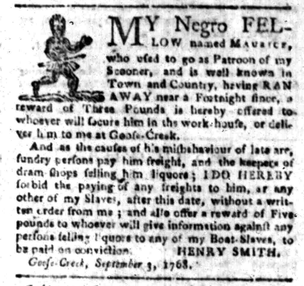 Sep 12 - South-Carolina Gazette Slavery 3
