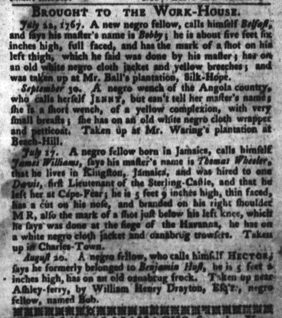 Sep 13 - South-Carolina Gazette and Country Journal Supplement Slavery 1