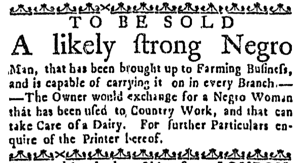Sep 15 - Massachusetts Gazette Draper Slavery 1