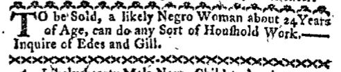 Sep 19 - Boston-Gazette Supplement Slavery 1