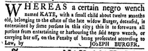 Sep 19 - New-York Gazette Weekly Mercury Supplement Slavery 2