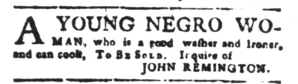 Sep 19 - South-Carolina Gazette Slavery 1