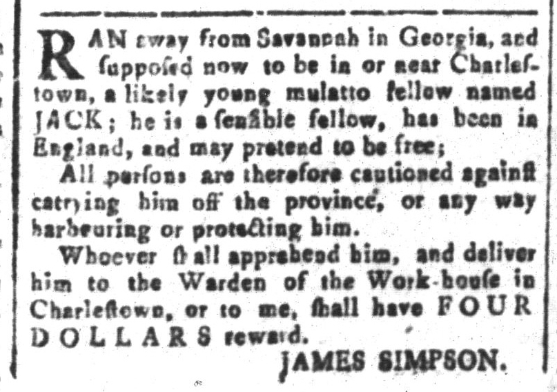 Sep 2 - South-Carolina and American General Gazette Slavery 6