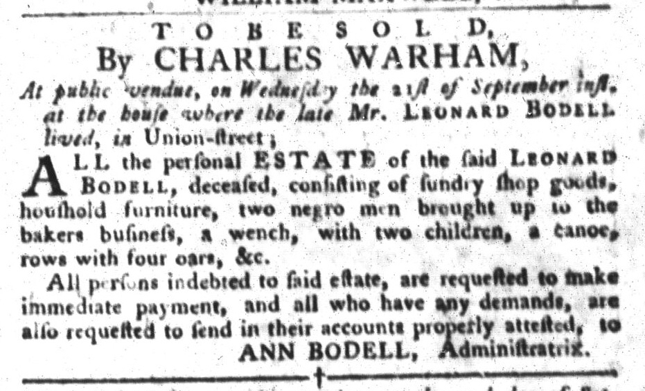 Sep 20 - South-Carolina Gazette and Country Journal Slavery 2