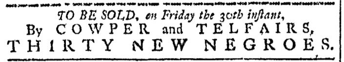 Sep 21 - Georgia Gazette Slavery 1