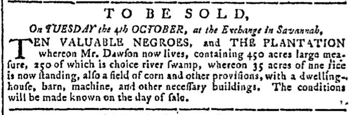 Sep 21 - Georgia Gazette Slavery 3