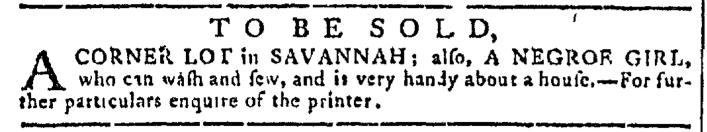 Sep 21 - Georgia Gazette Slavery 5