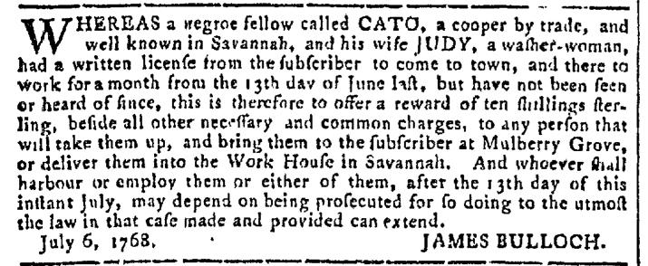 Sep 21 - Georgia Gazette Slavery 6