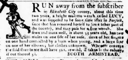 Sep 22 - Virginia Gazette Purdie and Dixon Slavery 10