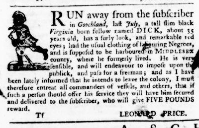 Sep 22 - Virginia Gazette Purdie and Dixon Slavery 11