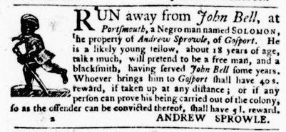 Sep 22 - Virginia Gazette Purdie and Dixon Slavery 3