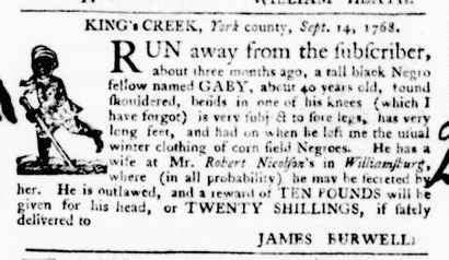 Sep 22 - Virginia Gazette Purdie and Dixon Slavery 6