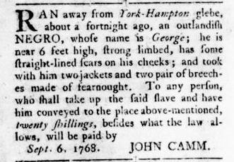 Sep 22 - Virginia Gazette Rind Slavery 11