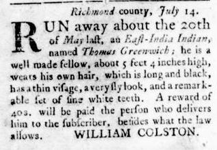 Sep 22 - Virginia Gazette Rind Slavery 12