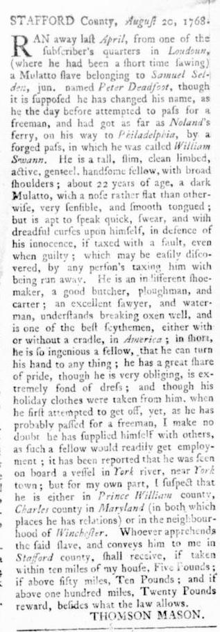 Sep 22 - Virginia Gazette Rind Slavery 5