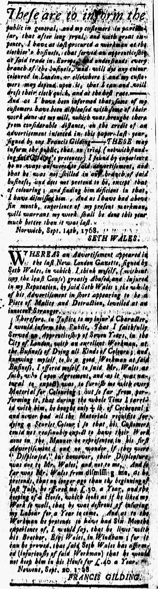 Sep 23 - 9:23:1768 New-London Gazette