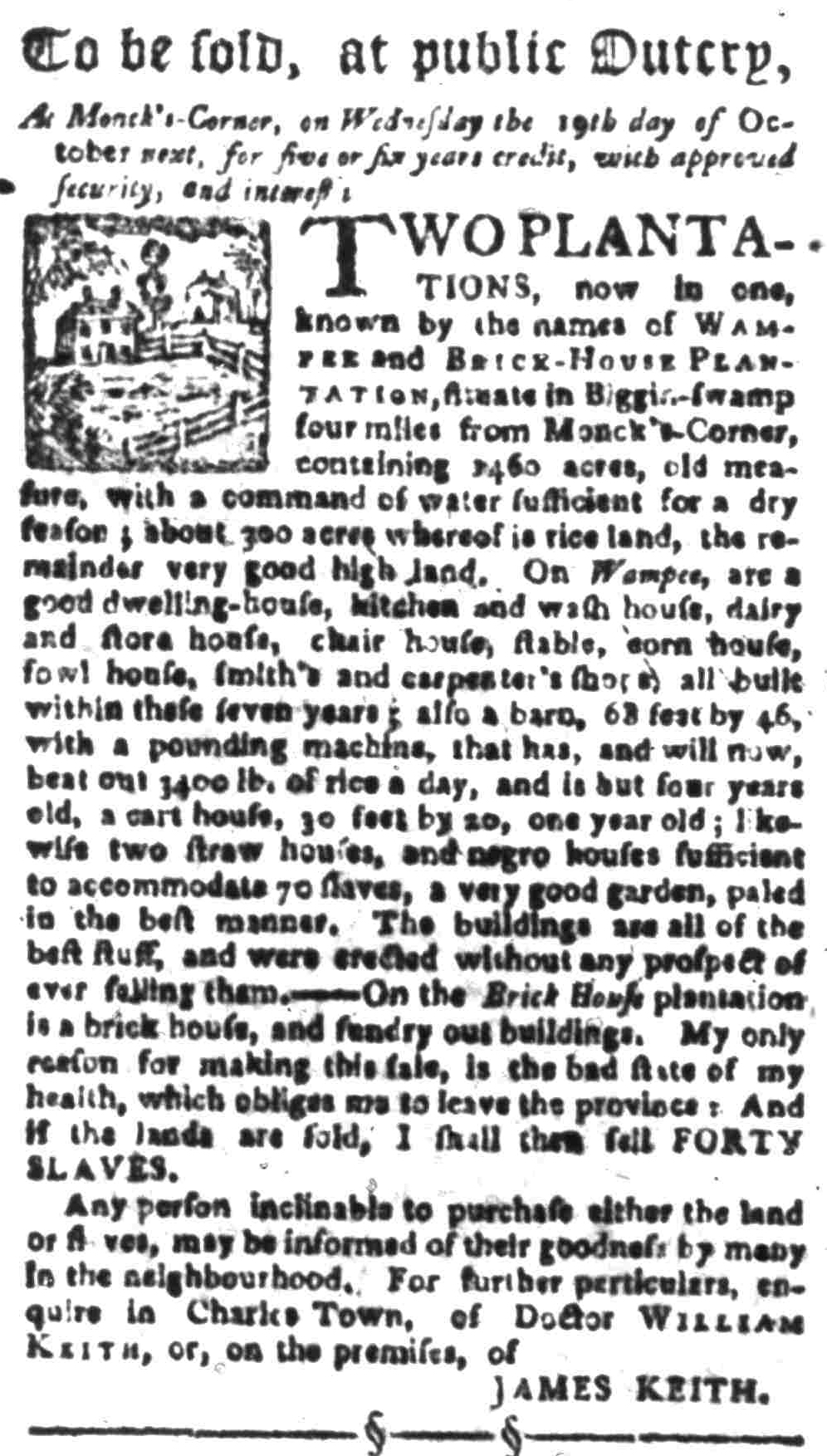 Sep 26 - South-Carolina Gazette Slavery 1