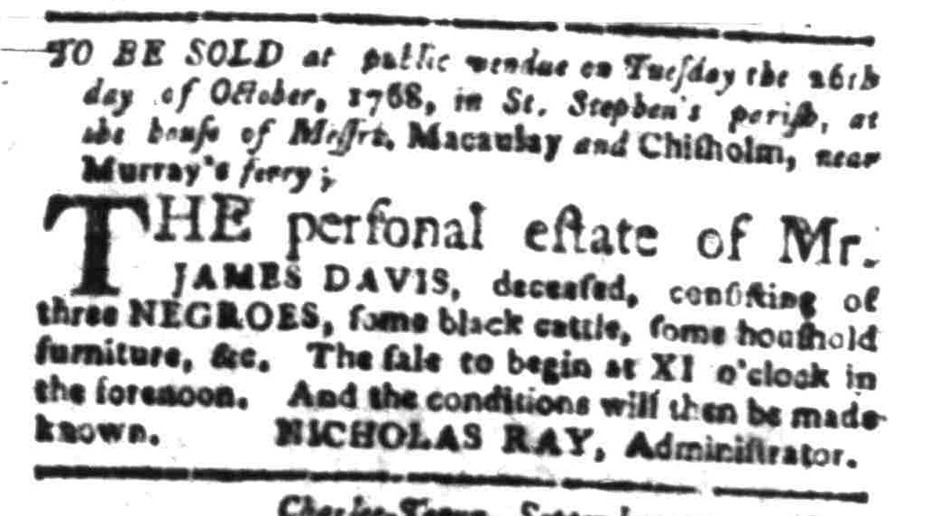 Sep 26 - South-Carolina Gazette Slavery 2