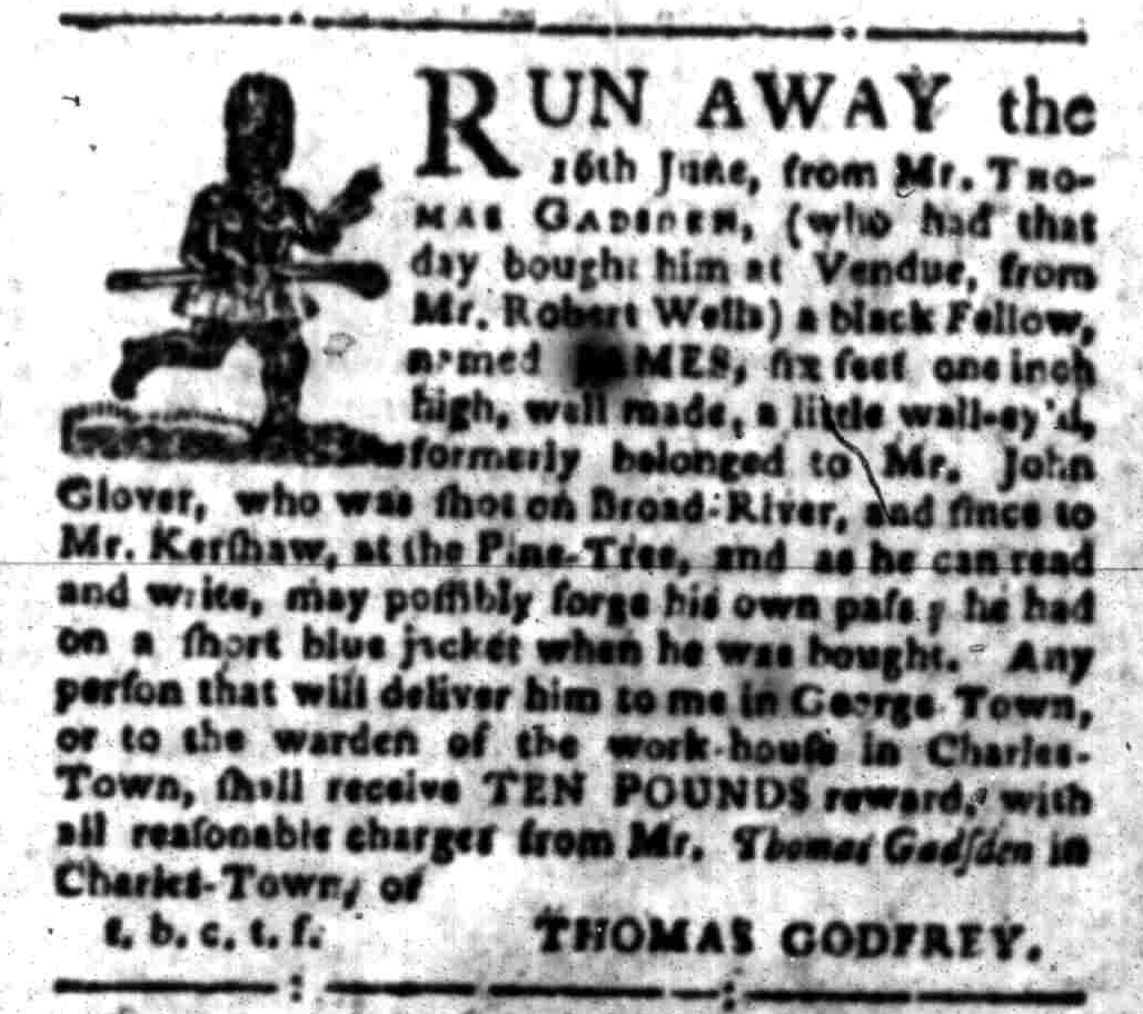 Sep 26 - South-Carolina Gazette Slavery 5