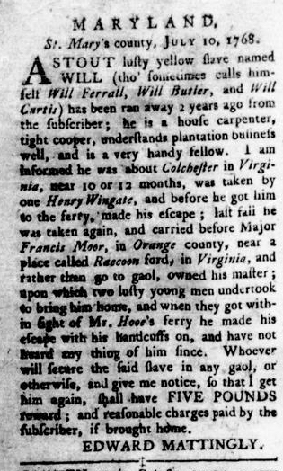 Sep 29 - Virginia Gazette Rind Slavery 7