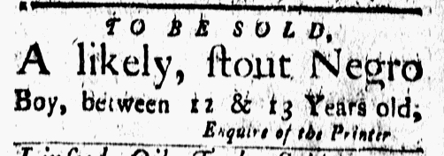 Sep 30 - New-London Gazette Slavery 1