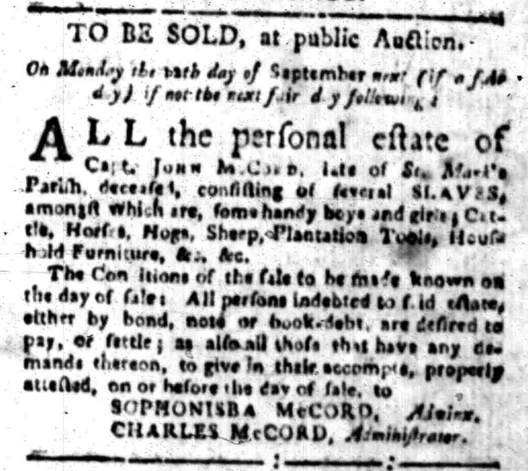 Sep 5 - South-Carolina Gazette Slavery 2