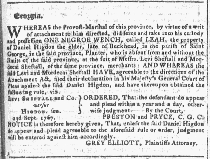 Sep 7 - Georgia Gazette Slavery 3