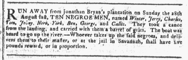 Sep 7 - Georgia Gazette Slavery 4