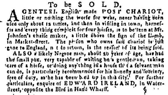 Sep 8 - Pennsylvania Gazette Supplement Slavery 2