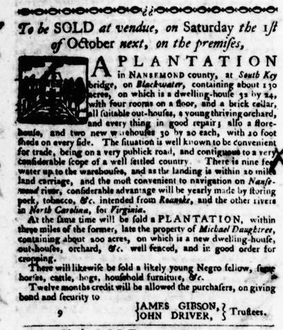 Sep 8 - Virginia Gazette Purdie and Dixon Slavery 10