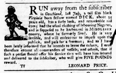 Sep 8 - Virginia Gazette Purdie and Dixon Slavery 11