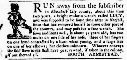 Sep 8 - Virginia Gazette Purdie and Dixon Slavery 3