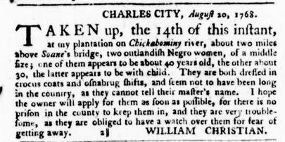 Sep 8 - Virginia Gazette Purdie and Dixon Slavery 4