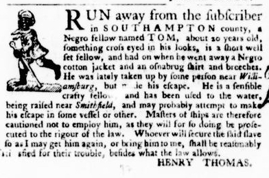 Sep 8 - Virginia Gazette Purdie and Dixon Slavery 6