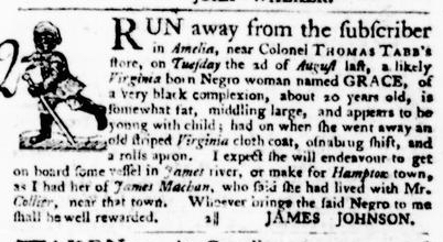 Sep 8 - Virginia Gazette Purdie and Dixon Slavery 7