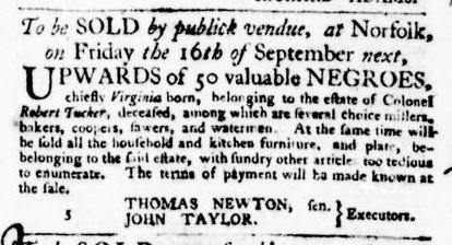 Sep 8 - Virginia Gazette Purdie and Dixon Slavery 8