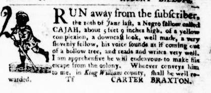 Sep 8 - Virginia Gazette Purdie and Dixon Slavery 9