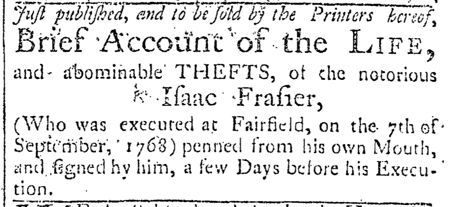 Sep 9 - 9:9:1768 Connecticut Journal