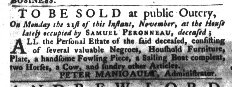 Nov 1 - South-Carolina Gazette and Country Journal Slavery 2