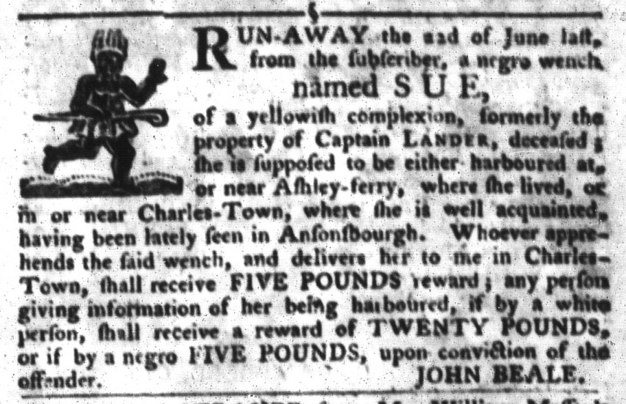 Nov 1 - South-Carolina Gazette and Country Journal Slavery 4